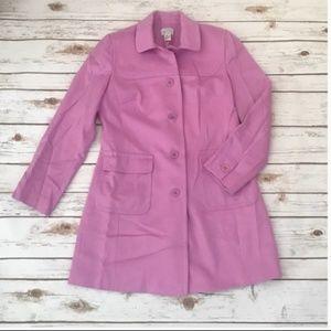 Ann Taylor LOFT Lilac Long Wool Coat with pockets